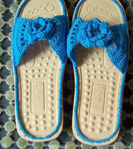动手-毛线拖鞋的钩法图解
